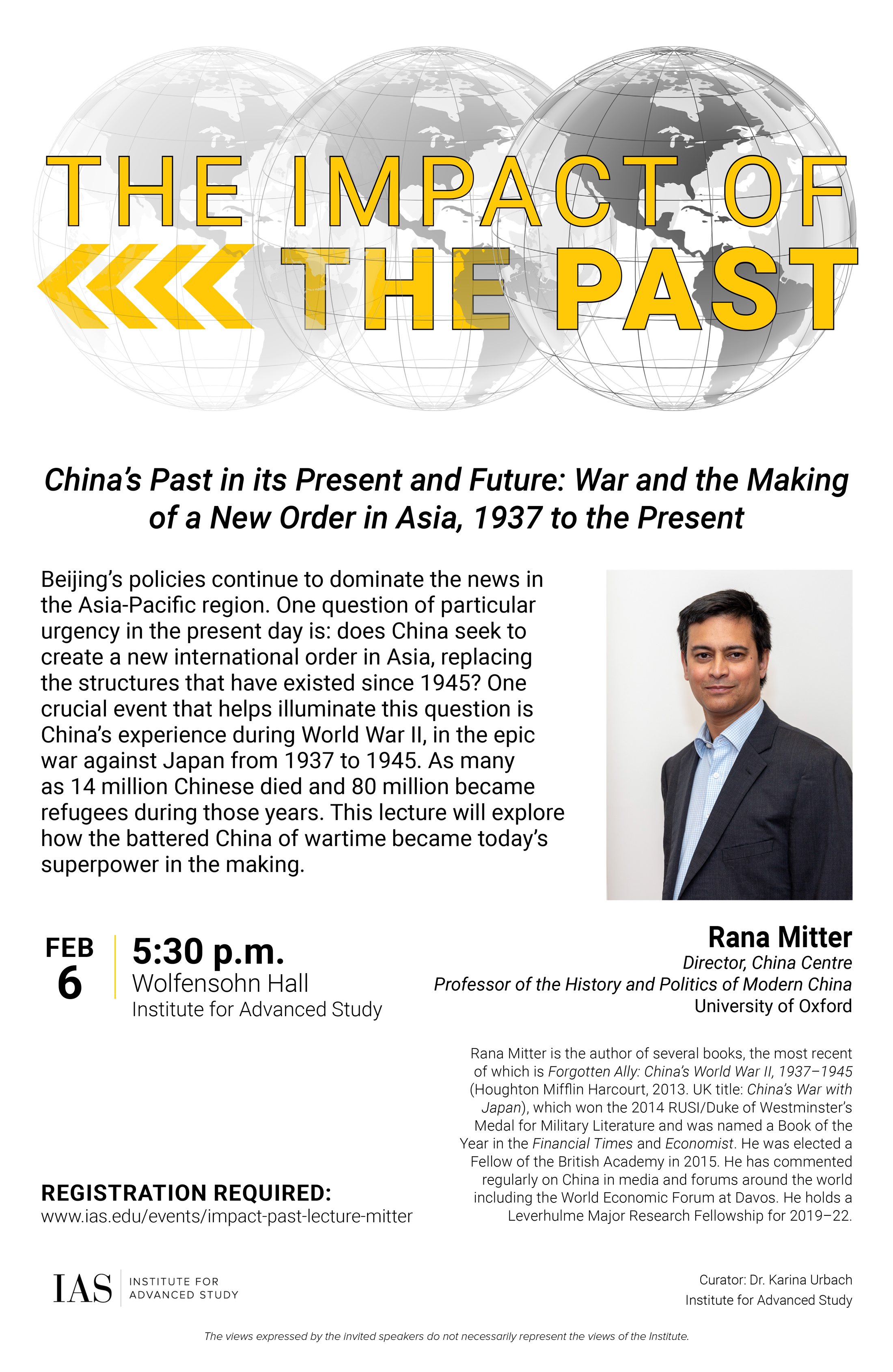 Impact of the Past Lecture: Rana Mitter on China's Past in