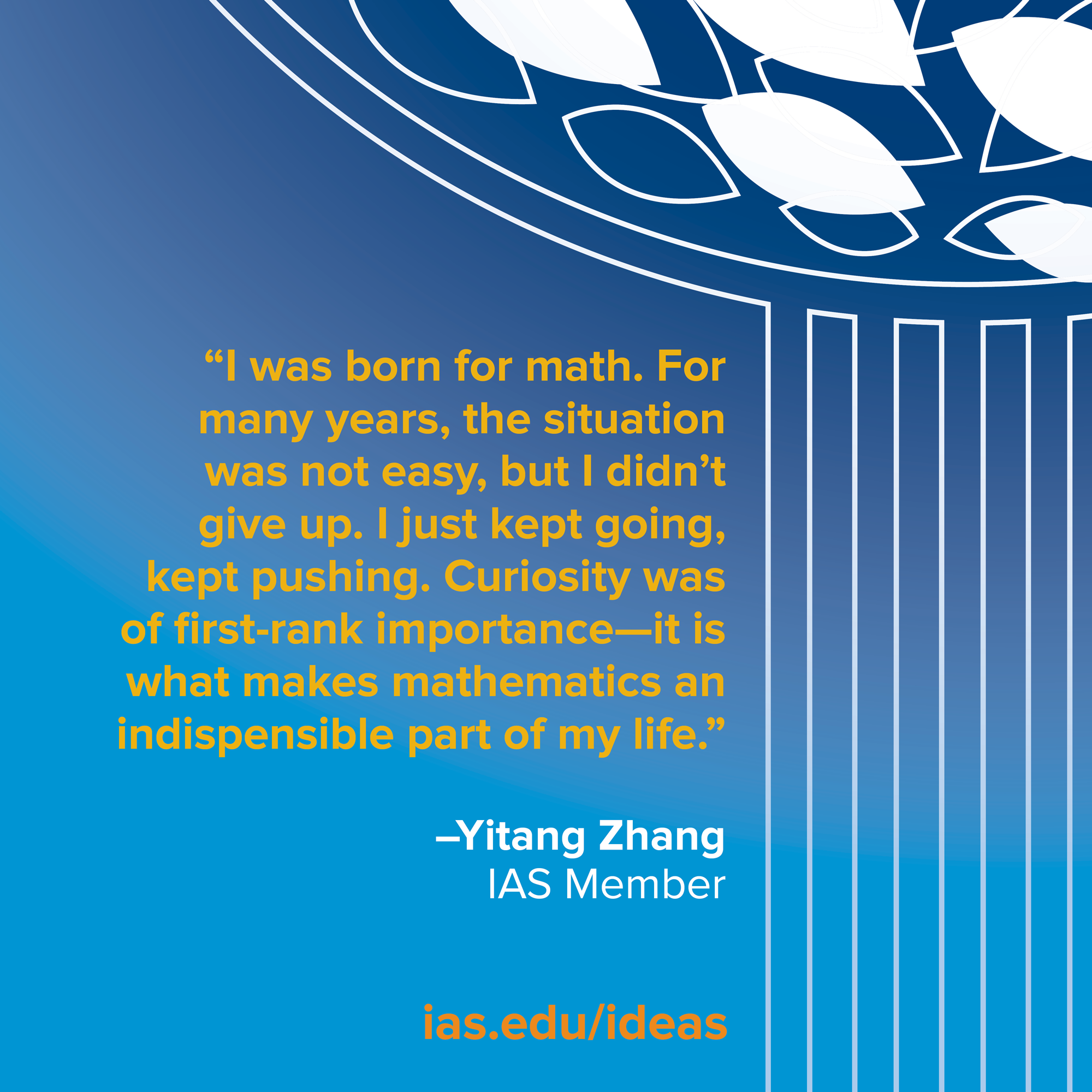 Yitang Zhang\'s Spectacular Mathematical Journey   Institute for ...