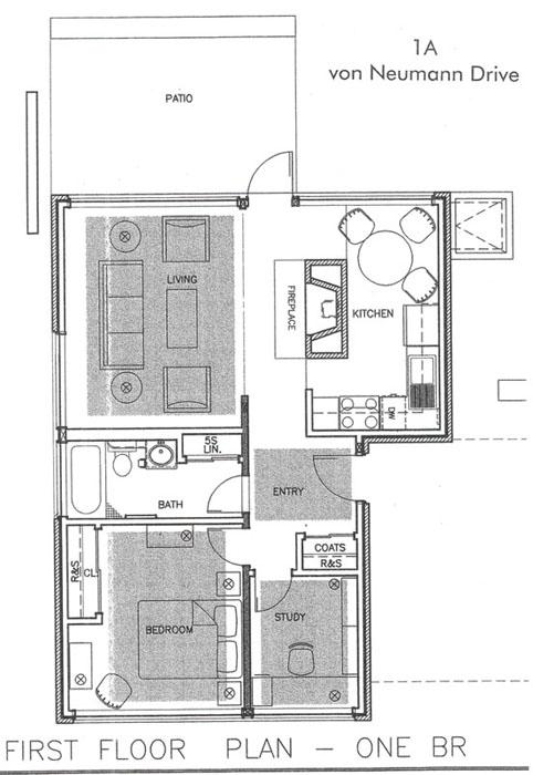 1a von neumann drive first floor plan one br - Housing Plans