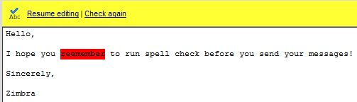 Using Spell Check in Zimbra Web Client | Information Technology Group