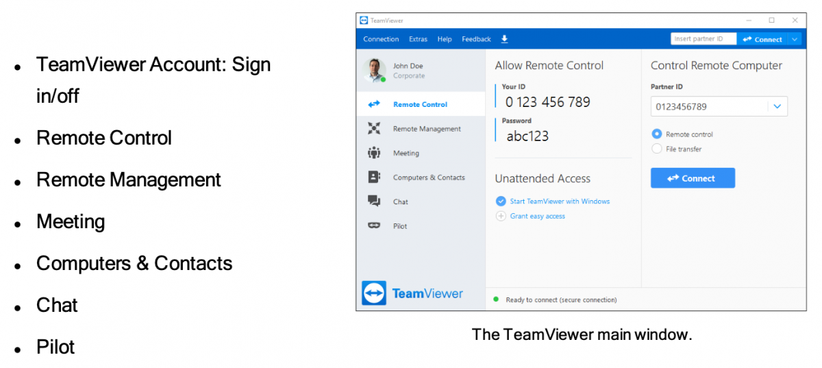 TeamViewer main window