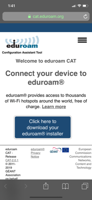 eduroam Installation Guide for iOS | Institute for Advanced