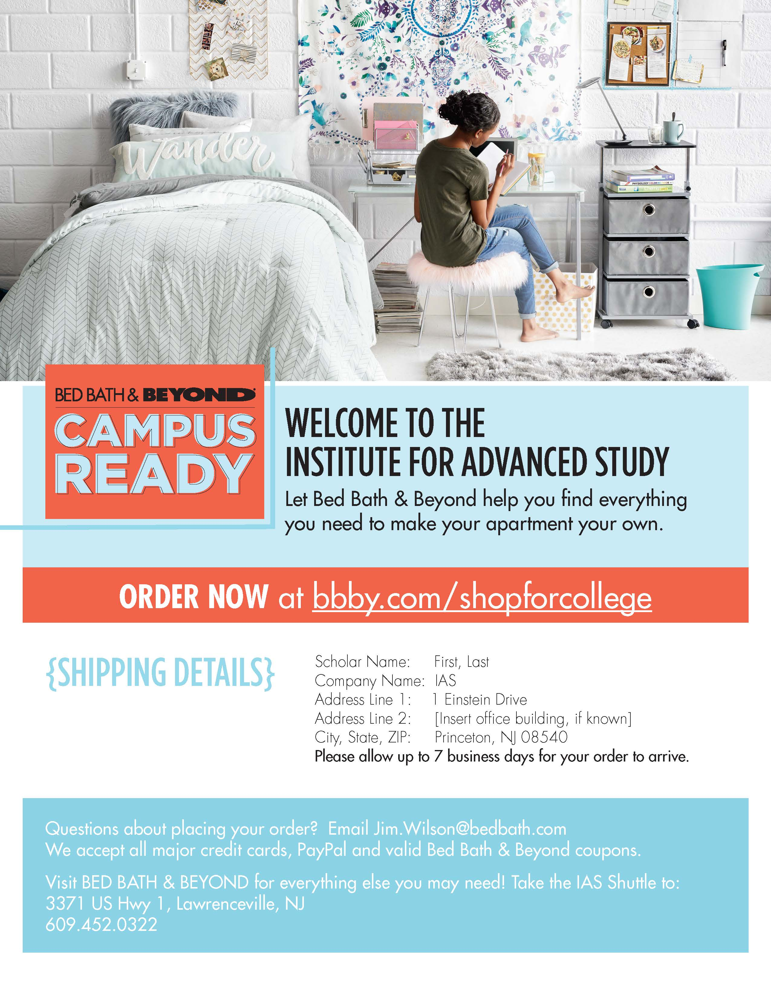 Pre Order Household Items from Bed Bath and Beyond
