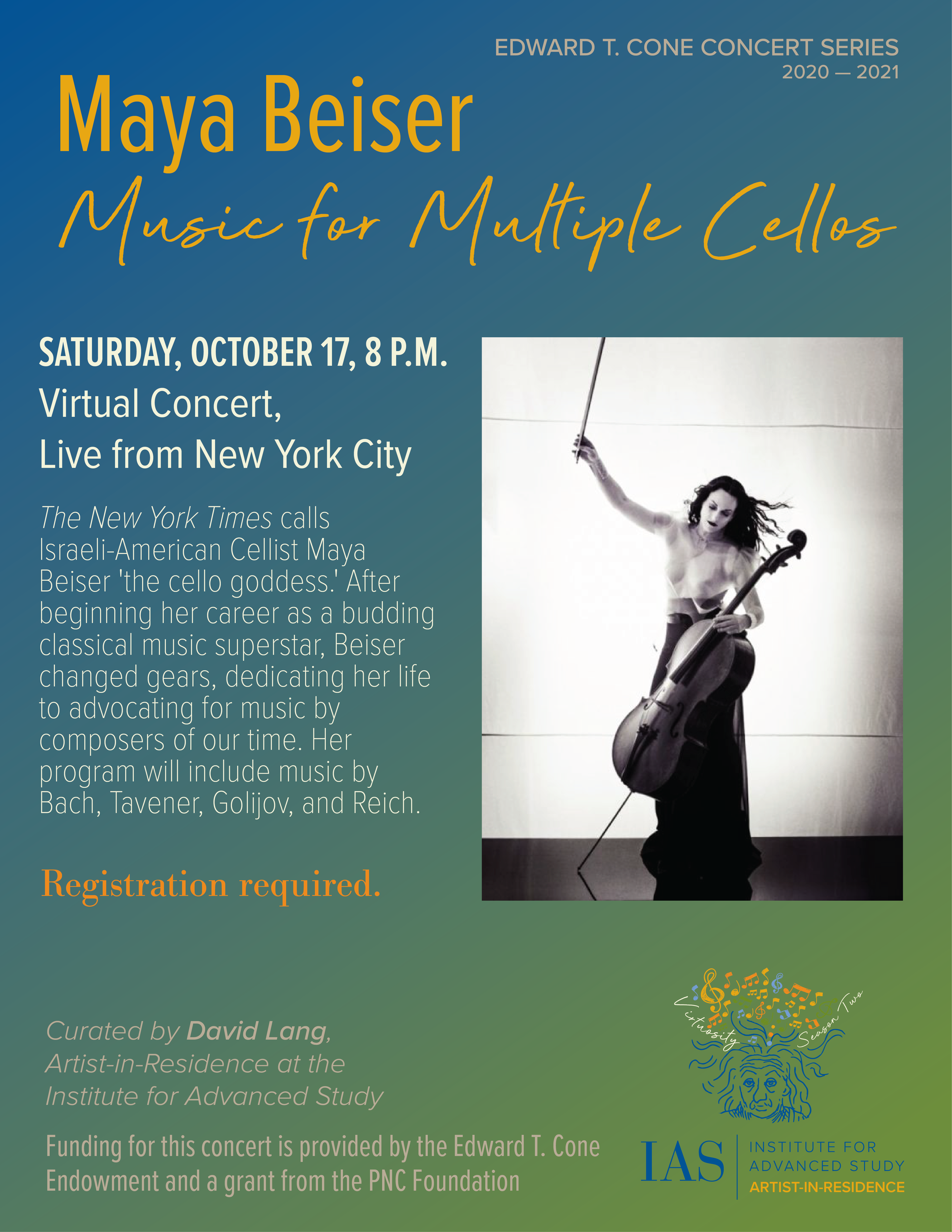 Concert poster for <I>Music for Multiple Cellos.</I>