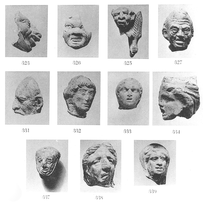 Grotesque and realistic terracotta figurines discovered at Tarsus.