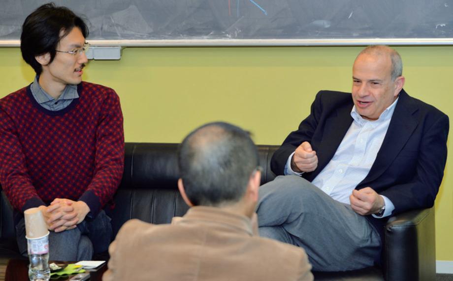 From left to right: Yuji Tachikawa, Hirosi Ooguri, and Nathan Seiberg