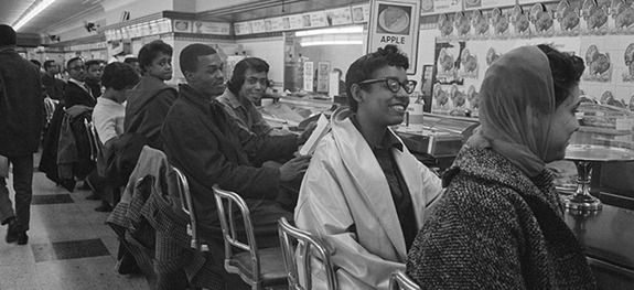 Student sit-in in Greensboro, North Carolina, in 1960