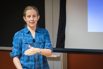 Tracy Slatyer lectures in Bloomberg Lecture Hall