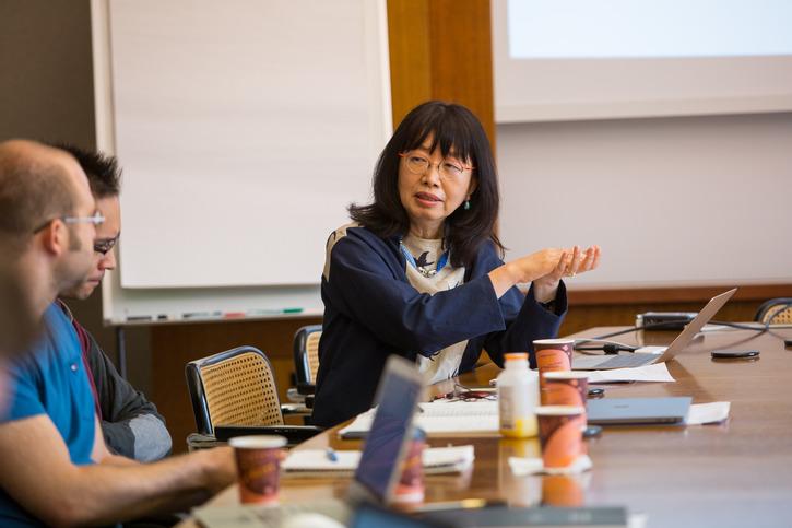 Eiko Ikegami during a seminar at IAS