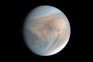 An image of Venus, made with data recorded by Japan's Akatsuki spacecraft in 2016. So close, so similar and very mysterious, the planet is surprising scientists with a chemical signature spotted in its clouds.