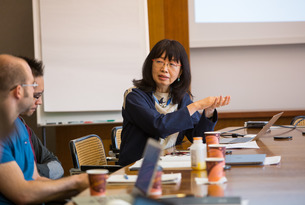 Eiko Ikegami during a seminar at IAS