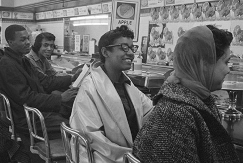 Student sit-in in Greensboro, North Carolina, in 1960