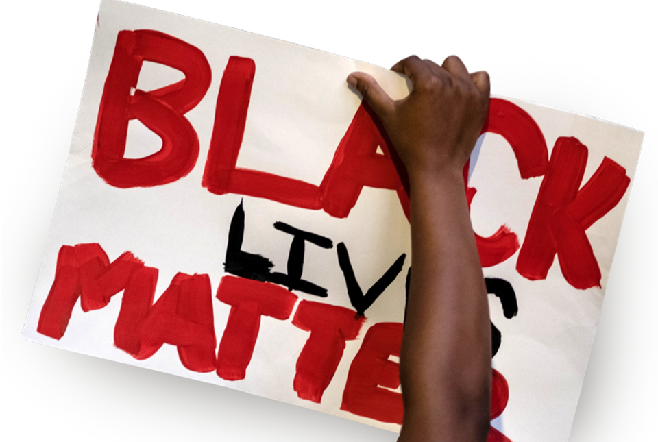 Black Lives Matter protest poster