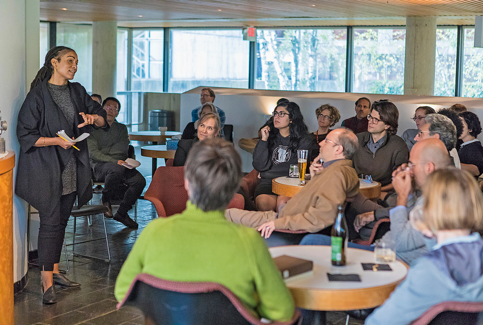 Ruha Benjamin speaks during an After Hours conversation at IAS