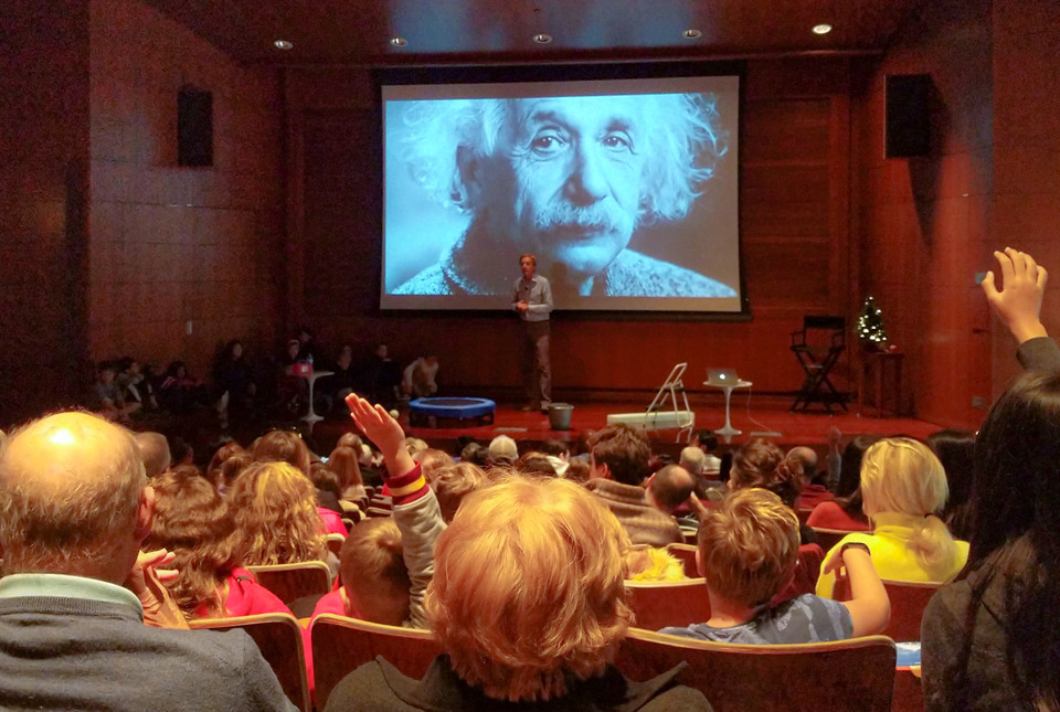 "Robbert Dijkgraaf during the IAS Family Science Talk ""Einstein's Dream"""