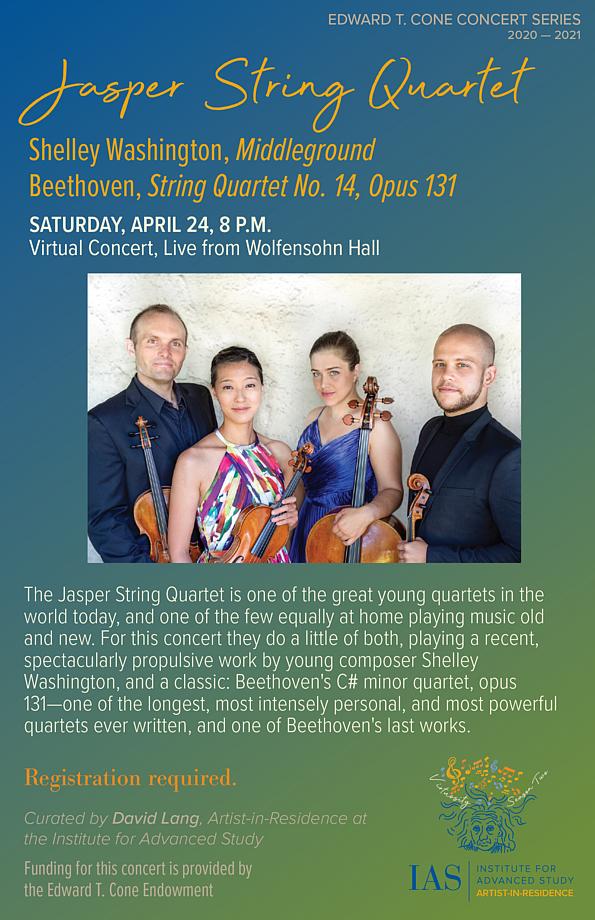 Concert poster for The Jasper String Quartet