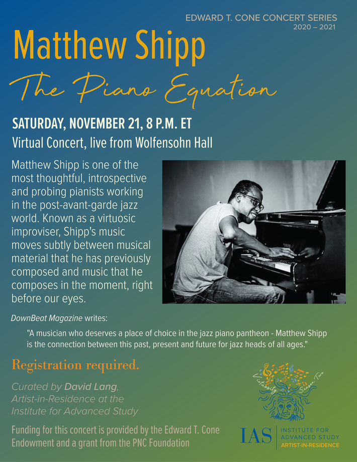 Concert poster for <I>The Piano Equation.</I>