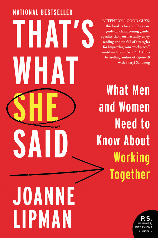 Book cover of 'That's What She Said' by Joanne Lipman